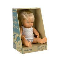 Miniland Blonde Blue-Eyed Baby Boy Doll