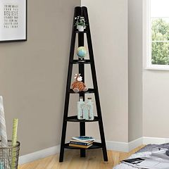 Casual Home 5-Shelf Corner Ladder Bookcase by