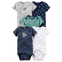 Baby Boy Carter's 5-pk. Space Print & Graphic Bodysuits