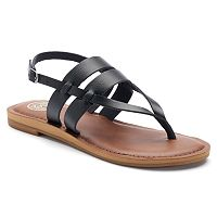 SO® Barge Women's Slingback Sandals