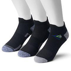 Men's Tek Gear 3-pack CoolTek Double-Tab Performance Low-Cut Running Socks