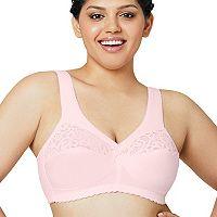 Glamorise Bras: Cotton Lace Full-Coverage Full-Figure Bra 1001