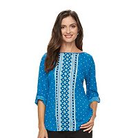 Women's Croft & Barrow® Crepe Print Top
