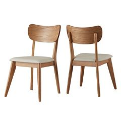 HomeVance Skagen Upholstered Dining Chair 2-piece Set by