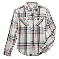 Girls 7-16 Mudd® Patterned High-Low Popover Shirt