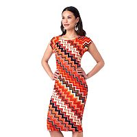 Women's Indication by ECI Chevron Midi Dress