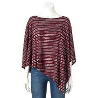Women's Double Click Asymmetrical Striped Top