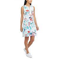 Petite Chaps Sailboat Lace-Up Dress