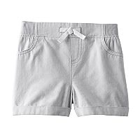 Baby Girl Jumping Beans® Striped Cuffed Shorts