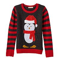 Girls 7-16 & Plus Size It's Our Time Light-Up Penguin Sweater