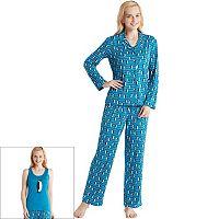 Women's Jammies by HIPstyle Pajamas: 3-Piece Tank Top Pajama Set
