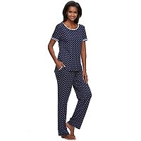 Women's Croft & Barrow® Pajamas: Double Knit Lounge PJ Set