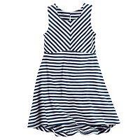 Toddler Girl Carter's Striped High-Low Hem Dress