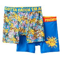 Boys 6-10 Pokemon 2-Pack Boxer Briefs