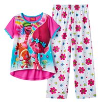 Girls 4-12 DreamWorks Trolls Poppy, Cooper & DJ Suki Pajama Set