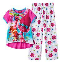 Girls 4-12 DreamWorks Trolls Poppy, Cooper & DJ Suki Pajama Set