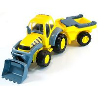 Miniland Educational Super Tractor & Removable Trailer Set