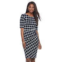 Women's Connected Apparel Print Sheath Dress