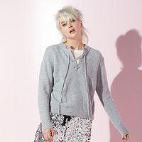 Women's JUICY Lace-Up Sweater