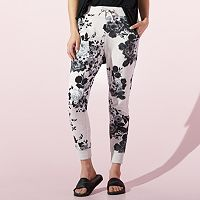 Women's JUICY Floral French Terry Jogger Pants