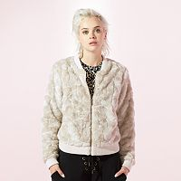 Women's JUICY Faux-Fur Bomber Jacket