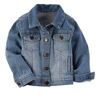 Toddler Girl Carter's Stretchy Denim Jacket