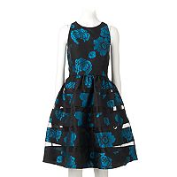 Women's Ronni Nicole Floral Jacquard Fit & Flare Dress