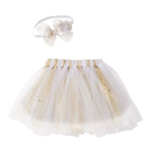 Girls 4-6x Gold Headwrap & Tutu Set