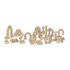 Eichhorn Heros 100-Piece Natural Wooden Blocks by