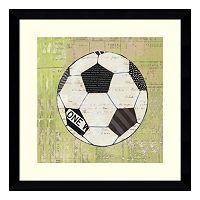 Play Ball I Soccer Framed Wall Art