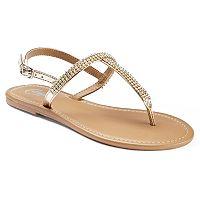 Candie's® Women's Rhinestone T-Strap Sandals