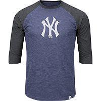 Men's Majestic New York Yankees Grueling Ordeal Raglan Tee