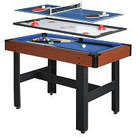 Hathaway Triad 3-in-1 Multi-Game Table Tennis, Billiards & Slide Hockey Table