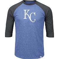 Men's Majestic Kansas City Royals Grueling Ordeal Raglan Tee