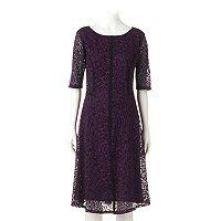 Women's Ronni Nicole Swirl Lace A-Line Dress