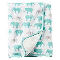 Baby Girl Carter's 30 x 40 Reversible Patterned Sherpa Blanket