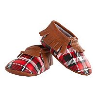 Baby Girl Itzy Ritzy Patterned Moc Happens Moccasin Crib Shoes