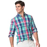Big & Tall Chaps Classic-Fit Patterned Button-Down Shirt