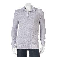 Men's Method Classic-Fit Heathered Mockneck Sweater