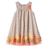 Girls 4-6x Blueberi Boulevard Cheetah Print Floral Dress