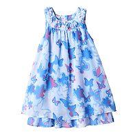 Girls 4-6x Blueberi Boulevard Abstract Butterfly Dress
