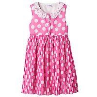 Girls 4-6x Blueberi Boulevard Collared Polka Dot Dress