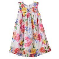 Girls 4-6x Blueberi Boulevard Trapeze Floral Chiffon Dress