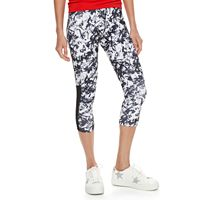 madden NYC Juniors' Abstract Mesh Insert Capris