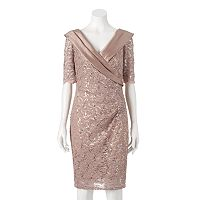 Women's 1 by 8 Floral Lace Sheath Dress