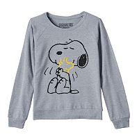 Girls 7-16 Peanuts Snoopy & Woodstock Supersoft Fleece-Lined Top