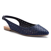 SO® Women's Slingback Pointed-Toe Flats