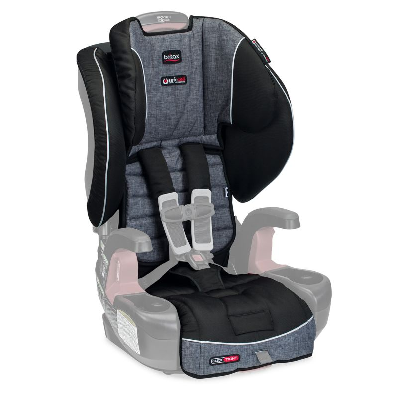 Britax Frontier ClickTight Harness-2-Booster Car Seat Cover Set, Grey