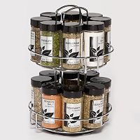 Kamenstein Chrome Wire Revolving 16-Jar Spice Rack