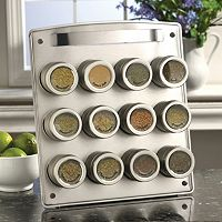 Kamenstein Magnetic 12-Tin Magnetic Spice Rack